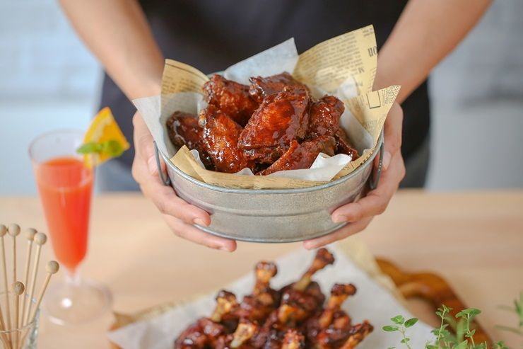 Spiced Coffee Hot Wings